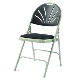 Fanback  Folding Chair - Padded Seat (Quick Delivery) | Fast Dispatch Stacking Chairs | F4E