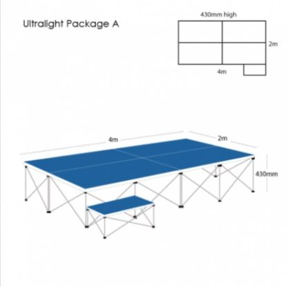 Gopak UltraLight Staging Package 430mm High | Staging Packages | GOPUS4