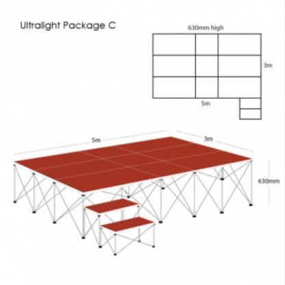 Gopak UltraLight Staging Package 430mm High | Staging Packages | GOPUS6