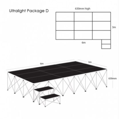 Gopak UltraLight Staging Package 630mm High | Staging Packages | GOPUS6