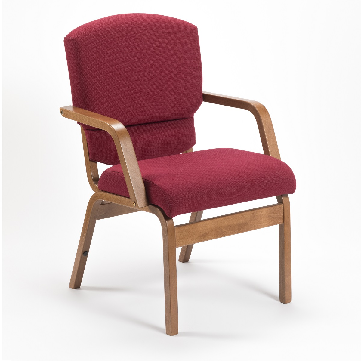 Comfortable Wooden Stacking Upholstered Bench Chair