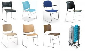high density stacking chairs, conference chairs, high stacking chairs, chairs on dolly, exhibition chairs, hall chairs, church chairs