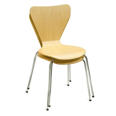 Budget Bistro Stacking Cafe Chair | Cafe Chairs | L2