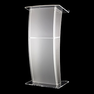 Curved Acrylic Perspex Lectern | Lecterns | LA4