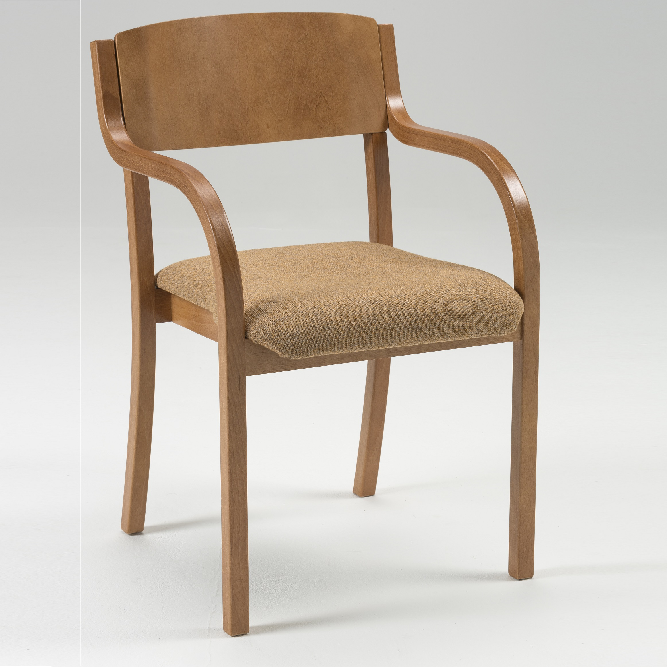 Lightweight Wooden Stacking Chair Upholstered Alpha
