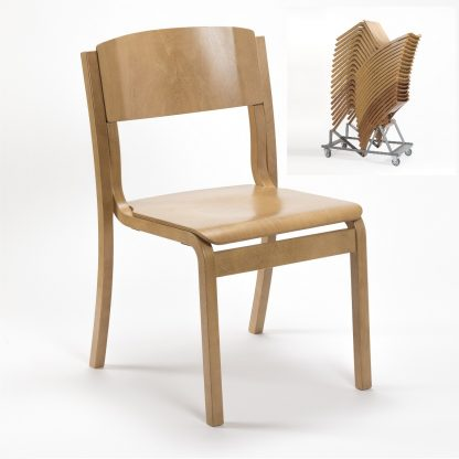 JACOB Lightweight Wooden High-Stacking Chair | Cathedral Range Chairs | LAMS