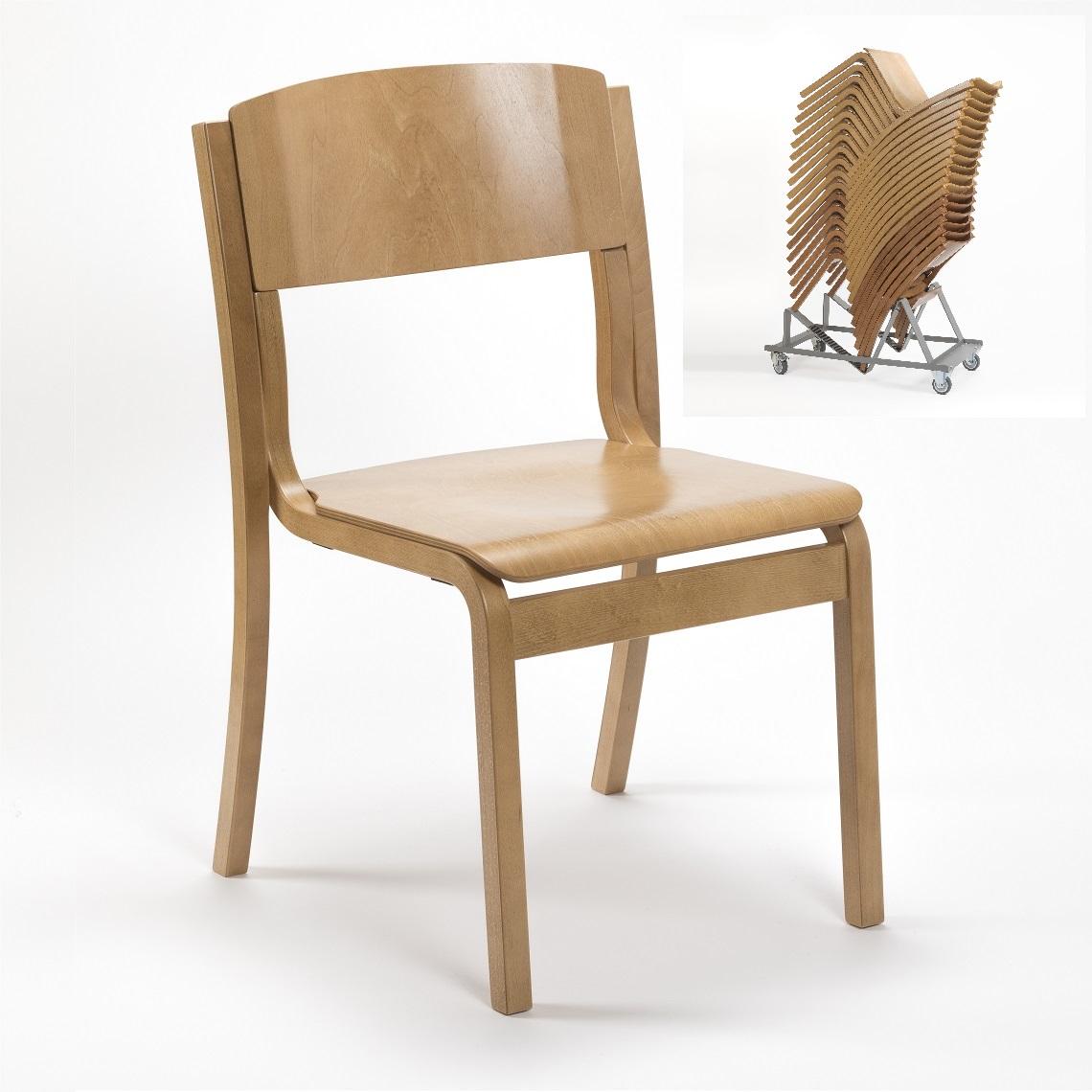 Jacob Lightweight Wooden High Stacking Chair