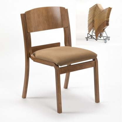 Lightweight Wooden High Stacking Chair | Cathedral Range Chairs | LAMSH