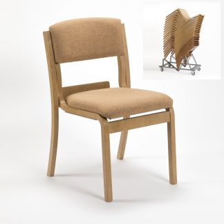 Lightweight Wooden High Stacking Chair | Conference Chairs | LAMSU