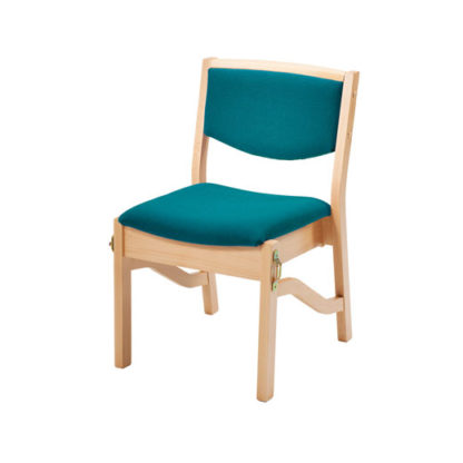 High Stacking Wooden Upholstered Chair   Church Chairs   LDL