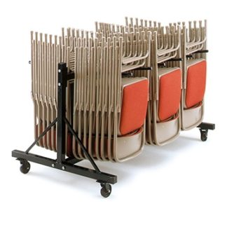 LOW2 - 2 Section Low Folding Chair Trolley | Community Folding Chair Trolleys | LOW3