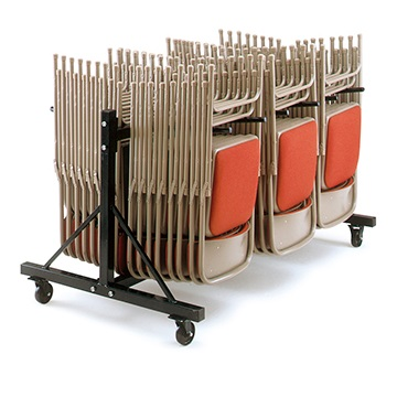 LOW2 - 2 Section Low Folding Chair Trolley   Community Folding Chair Trolleys   LOW3