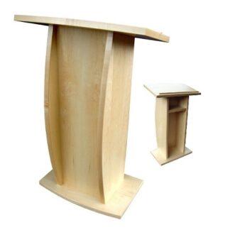 Adjustable Lectern (Gas Lift) in Wood Veneer | Lecterns | LW3