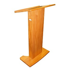 Budget Solid Indonesian Mahogany Lectern with Hand Holds | Lecterns | LWB1