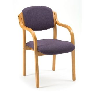 Wooden Stacking Meeting Chair (Shown with optional arms) | Conference Chairs | MRLB
