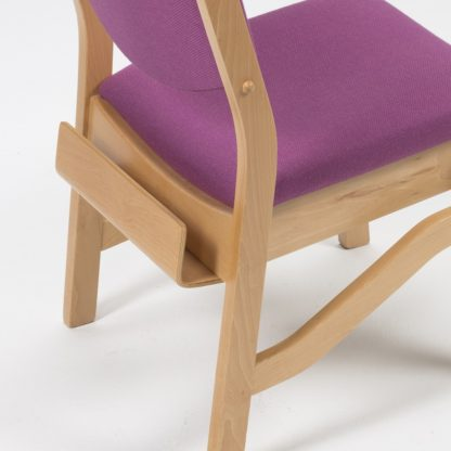 High Stacking Wooden Upholstered Chair | Church Chairs | LDL