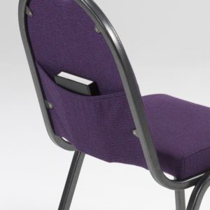 church chair, book storage, elasticated pocket, book pocket, chair book pocket