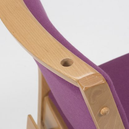 High Stacking Wooden Upholstered Chair | Wooden Church Chairs | A1LSE