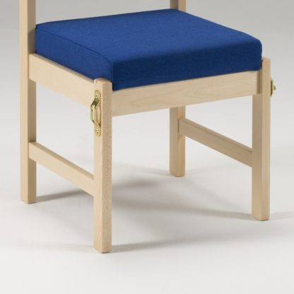 High Stacking Wooden Upholstered Chair | Library Chairs | E4U