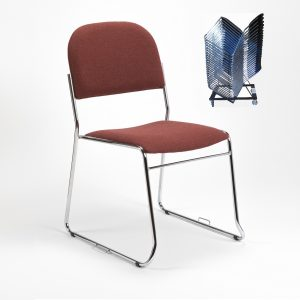 Original high stacking upholstered lightweight SB2M chair - church chair - conference chair - stacking chairs