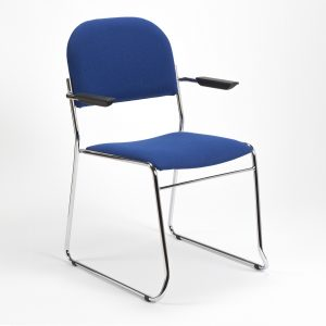 Original high stacking upholstered lightweight SB2M chair - church chair - conference armchair - stacking armchairs