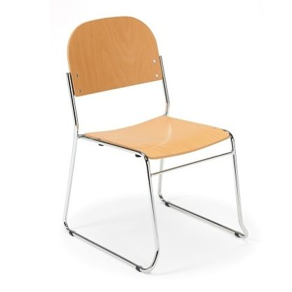 Stacking Skid Base Lightweight Wooden Chair | High Stacking Chairs | SBW