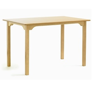 SUPPER Rectangular Dining Table with Curved Rails (Yorkshire Range) | Dining Tables | SHDTR