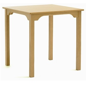 SUPPER Square Dining Table with Curved Rails (Yorkshire Range) | Dining Tables | SHDTS