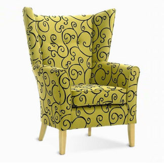 MELBOURNE High Back Curve Chair With Wings - Yorkshire Range | Care Home Lounge Furniture | SH1W