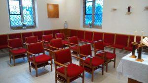 Bespoke upholstery, St Joseph's Church Gerrard's Cross. Alpha Furniture Church Chair Upholstery and Reupholstery Service