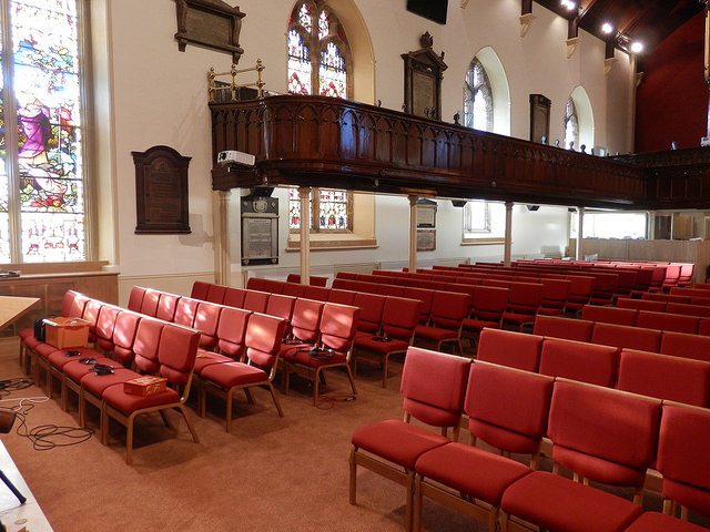 Comfortable Wooden Stacking Upholstered Bench Chair Lisburn Cathedral Case Study