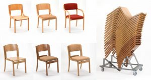 Lightweight Wooden Church Chairs