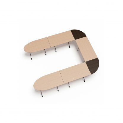 Conference Table Top 90 Degree Connector | Folding Meeting Tables | FLIBM07