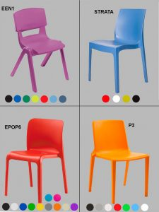 One-Piece Polypropylene Chairs