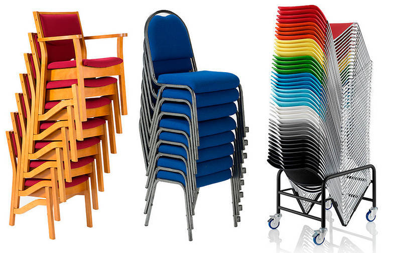 Stacking Chairs from Alpha Furniture
